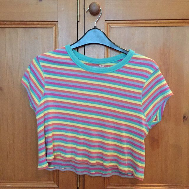 f9a2853329 Listed on Depop by holly866. Crop T ShirtLipstickRainbowsPumps