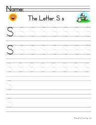 Letter S Handwriting Practice | Kindergarten | Handwriting ...
