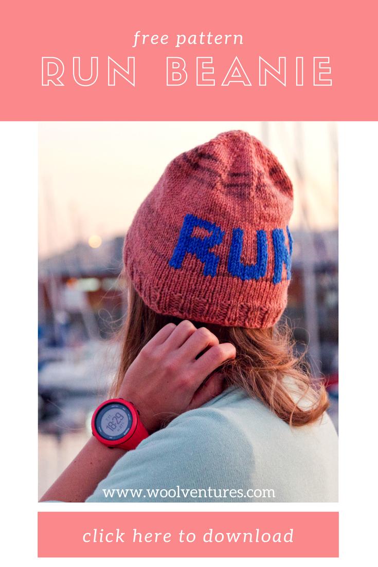 Free knitting pattern: RUN beanie | Free pattern, Knitting patterns ...