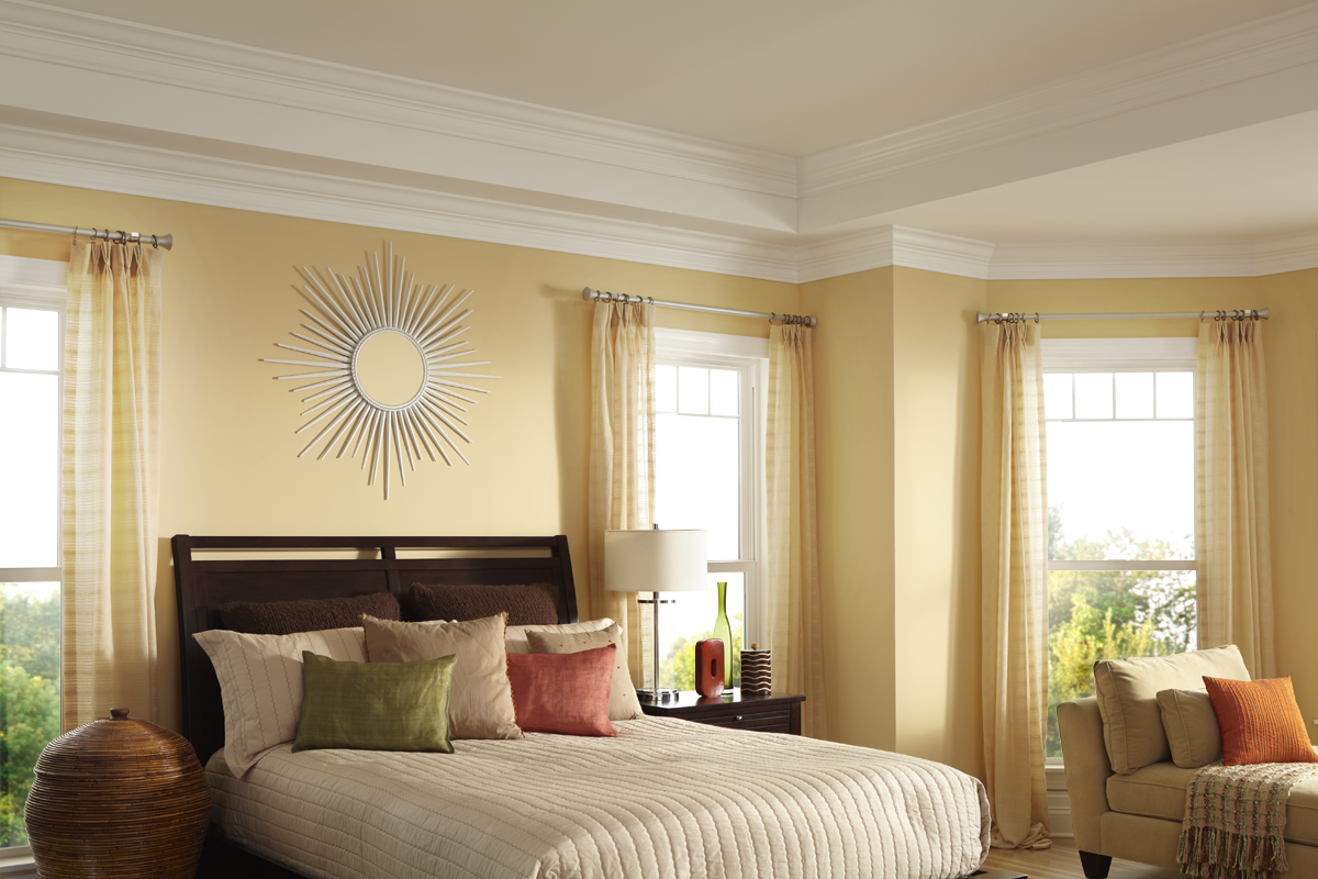 Staycation Central | The wall color Organic Bamboo KM4676 is warm ...