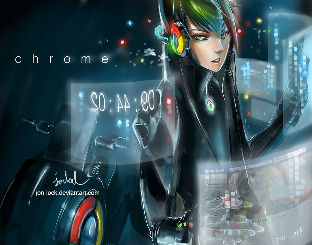 Google Chrome Personified Anime Anime Characters Awesome Anime