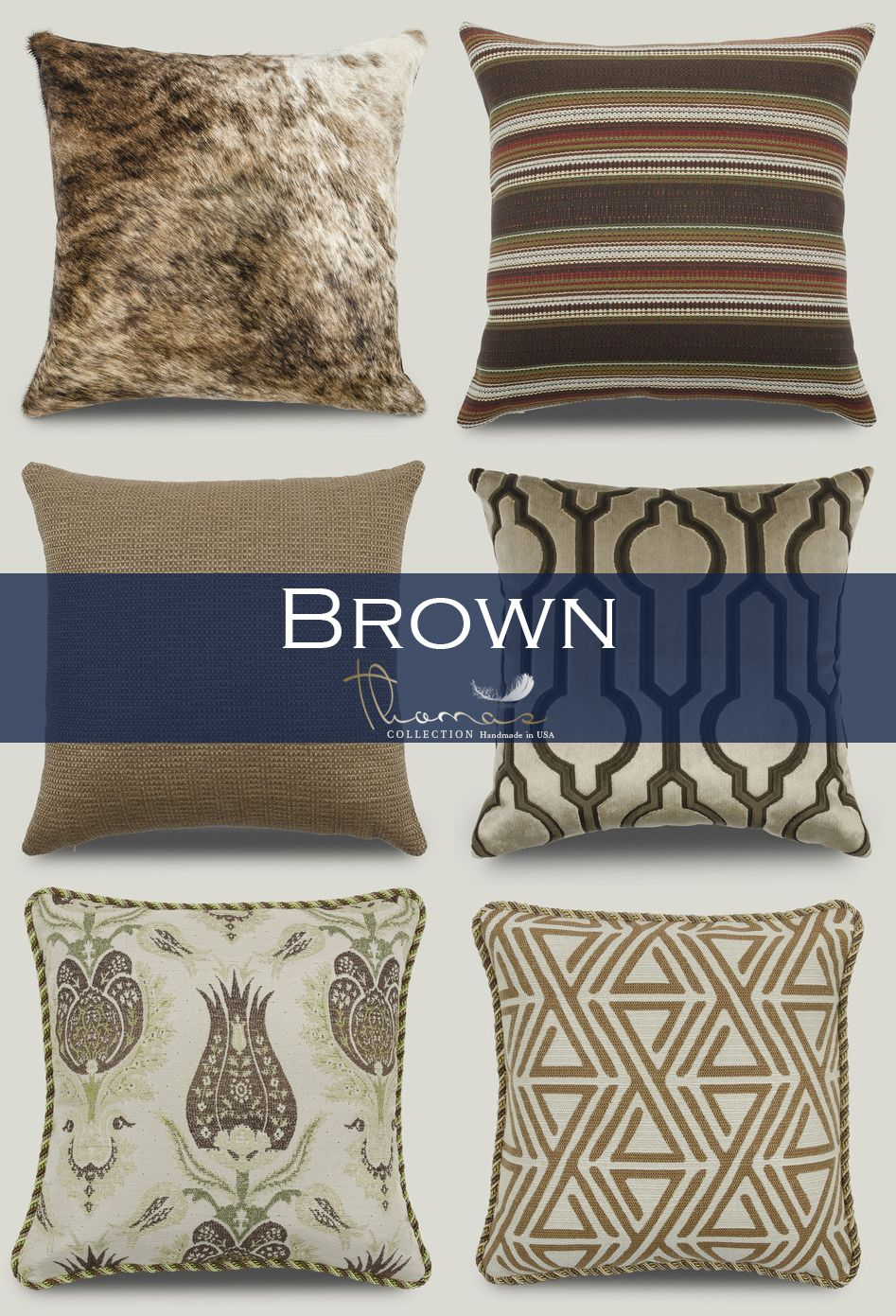 This week's featured color is…Brown! From patterns, to stripes, to geometric, we have any style of decorative pillow to match yours.