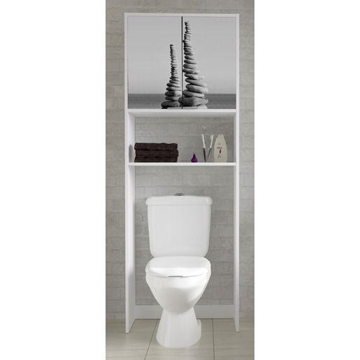 Meuble dessus de WC et machine  laver 64 x 30 x H 180 cm