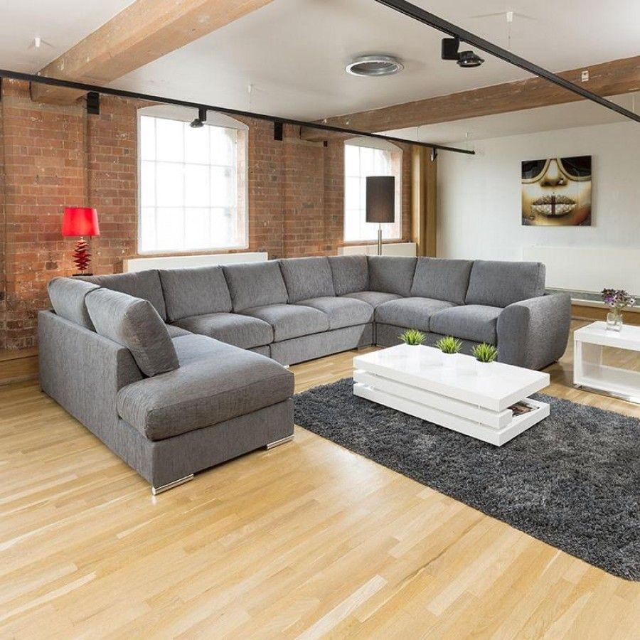 Gala Extra Large Settee Corner U L Shape Grey 4 0 Metre X 2 6 Metre R Call 02476 642139 Or Email Sales Quatropi Com Or U Shaped Sofa L Shape Sofa Set Sofa Set