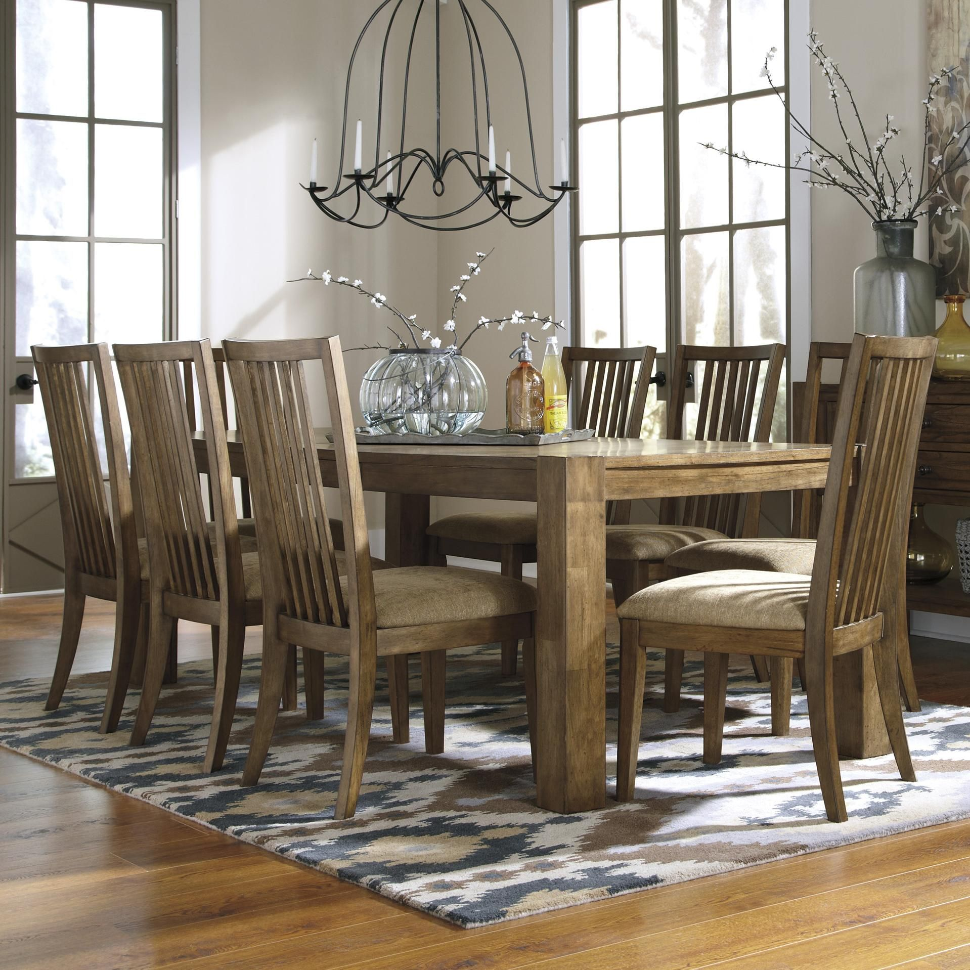 Baxenburg Brown Extendable Rectangular Dining Table from ...