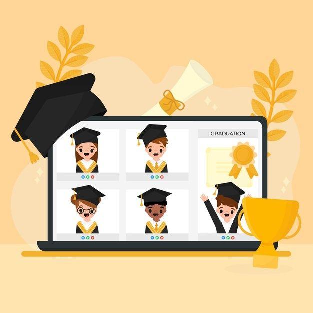 Illustrated Virtual Graduation Ceremony