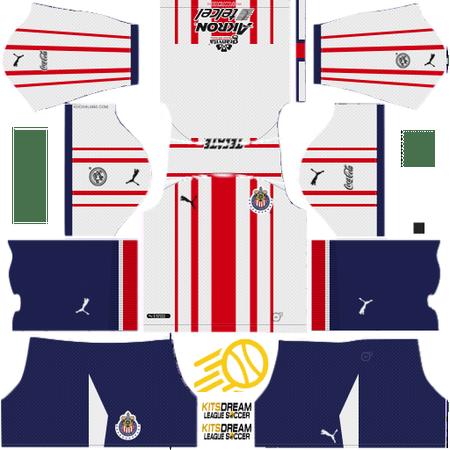 kits Chivas De Guadalajara dream league soccer 2017 2018