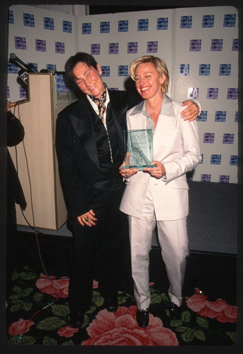 1997 Kd Lang Ellen Degeneres Original Slide Transparency Singer