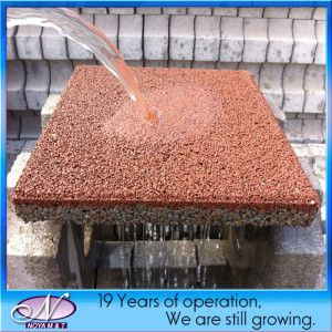 Porous Pervious, Ceramic Water Permeable Brick Paver For Driveway, Walkway    China Paving Stone