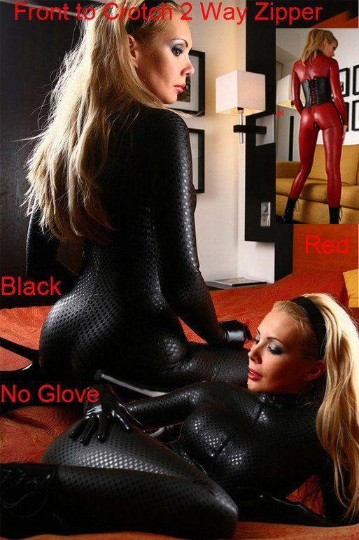 159af6c0e3cb Sexy Women Faux Leather Bodycon Fetish Jumpsuit PVC Bodysuit Open Crotch  Teddy Lingerie Erotic Catsuit