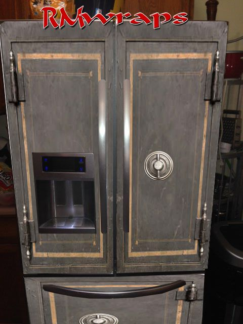 Vintage Safe Refrigerator Wraps Want One Click On This
