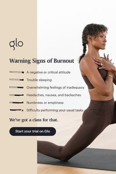 Sign up with Glo today | Unlimited access to yoga, meditation, and Pilates classes