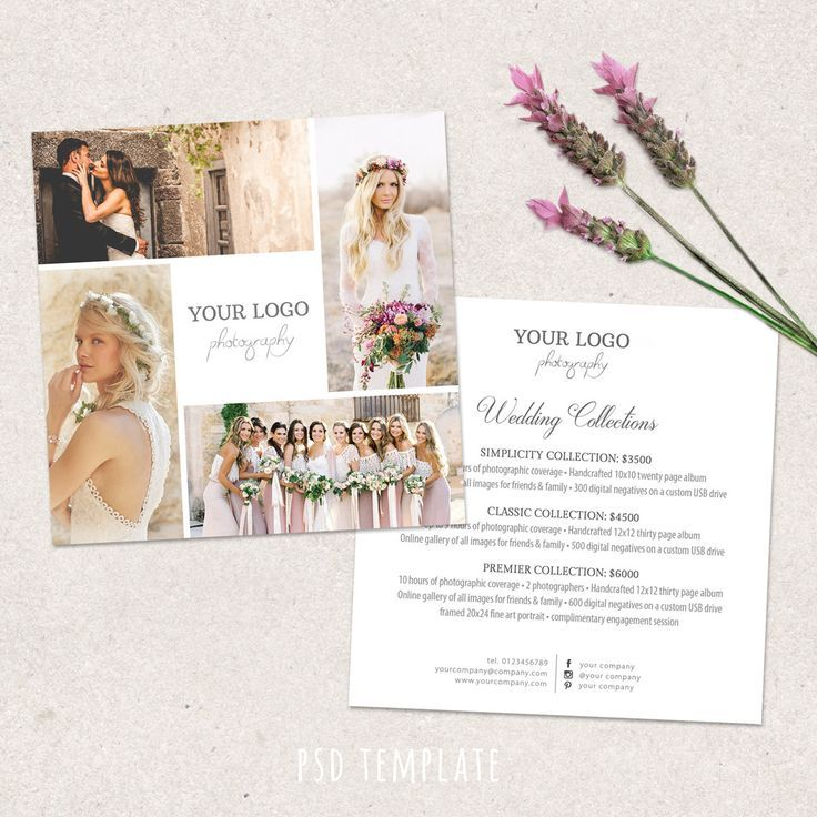 Cool Wedding Photography Price List Template Marketing Advertising Pricing Guide Fully Editable