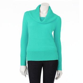 Apt. 9 Cashmere Cowlneck Sweater - Petite | kohls clothes ...