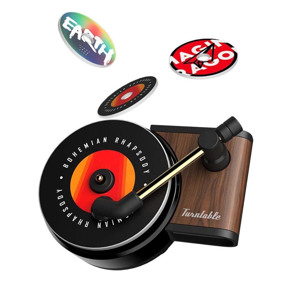 Car Air Freshener Creative Wooden Turntable Retro Record