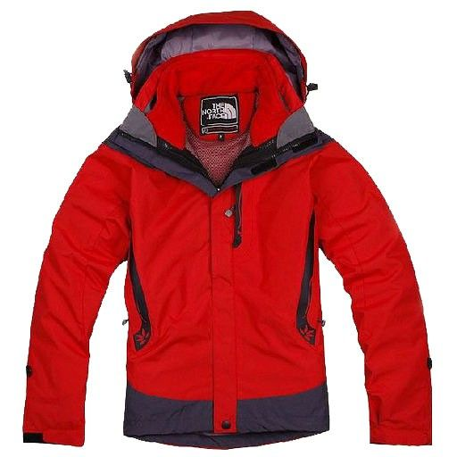 Womens The North Face Triclimate 3 In 1 Jacket Red Gray