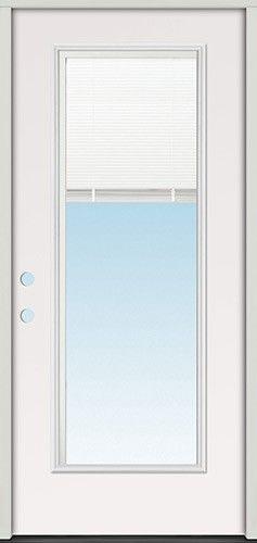 Miniblind Full Lite Steel Prehung Door Unit