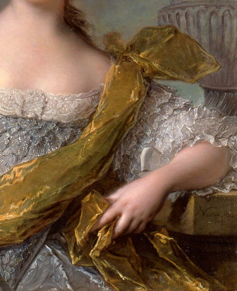 "Madame Victoire of France"" (1748) (detail) by Jean-Marc Nattier (1685-1766)."