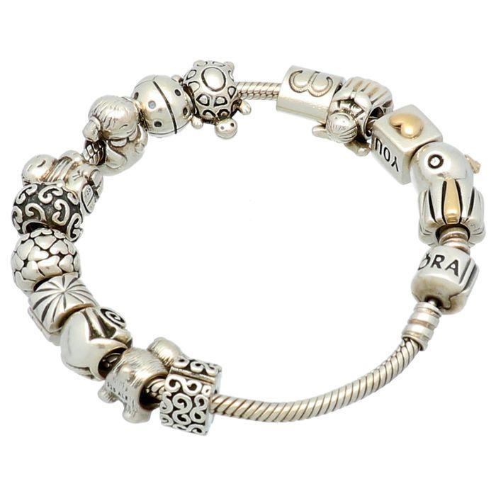 Pulsera Pandora Oro Y Plata | Pandora bracelets, Pandora charm ...