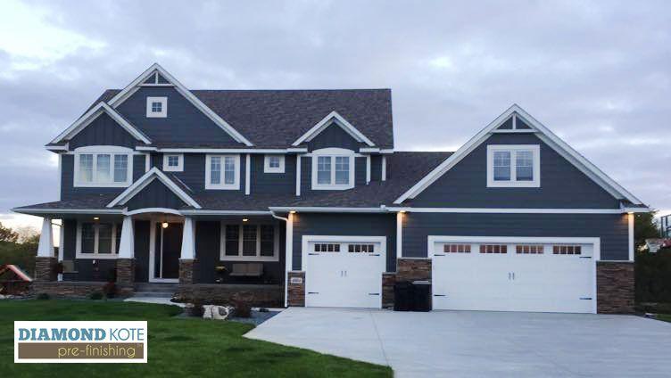 House With Dramatic Bolds Smoky Ash And White Trim Diamond Kote