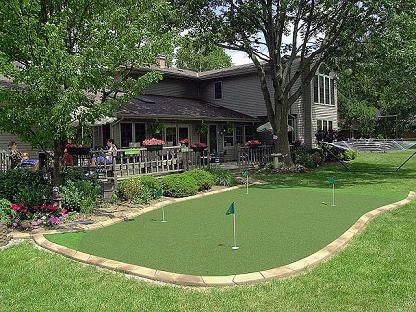 Backyard Putting Green Designs light up the night and your game with perfectlawns golf green lighting My Backyard Putting Green