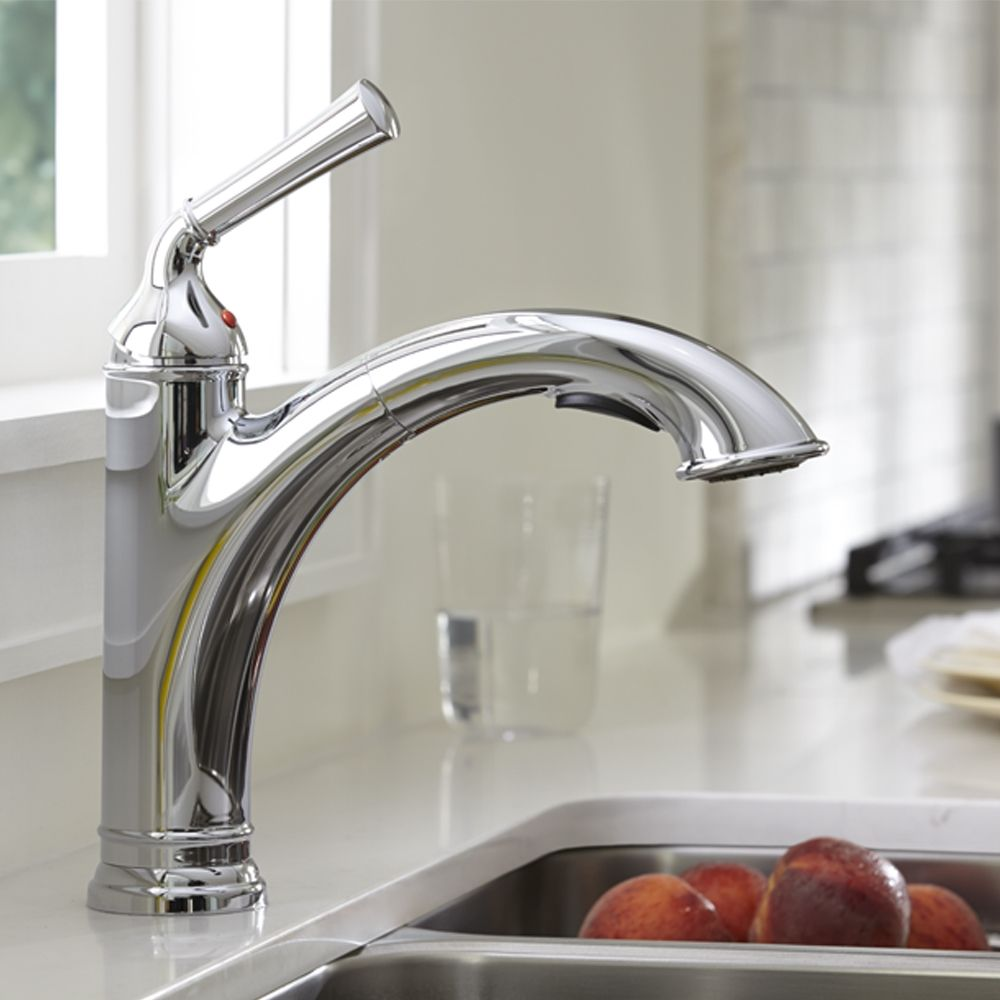 American Standard Portsmouth 1-Handle Pull Out Kitchen Faucet   Our ...