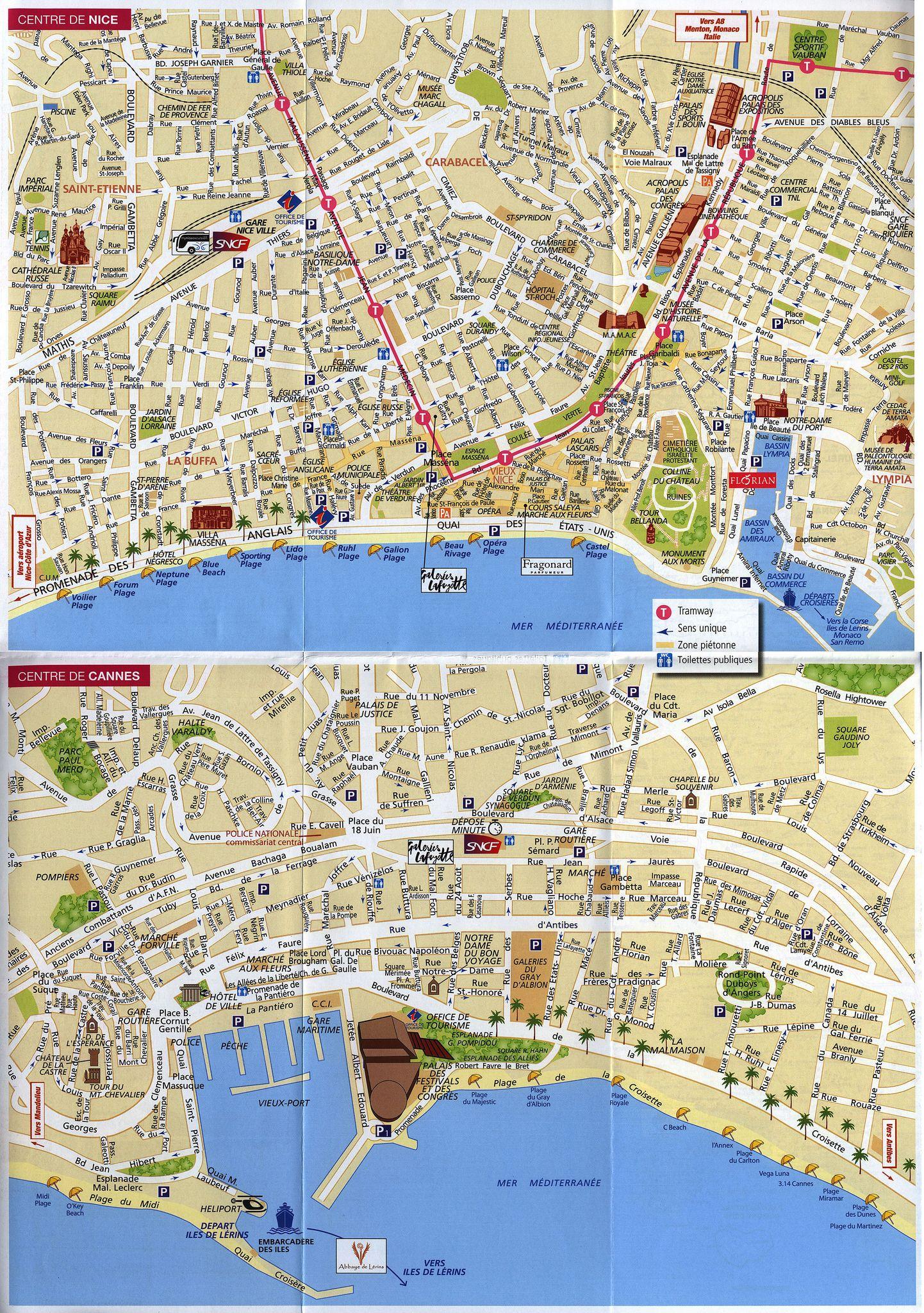Ma Carte Cote DAzur My Riviera Map Nice Cannes - Rue france map