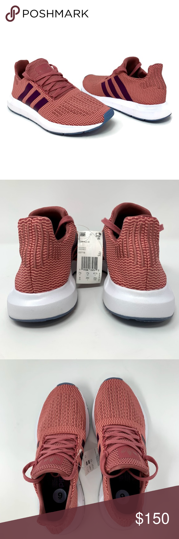 9269fb7fb23f7 Adidas Swift Run Women s Training Running Shoes ADIDAS Adidas Swift Run  B37718 Women s Running Shoes Size 9 Trace Maroon   Red Night   White Lace  up Low top ...