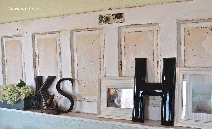 old door as wall shelf   Meridian Road: vintage door turned into a ...
