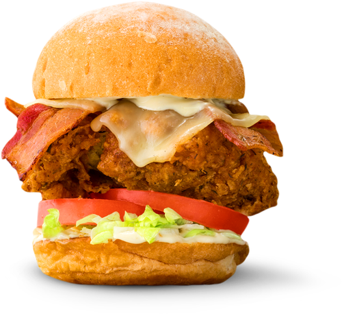 Double Fried Chicken Slider Burger Png Free Download Png Images With Transparent Background Chicken Sliders Fried Chicken Burger