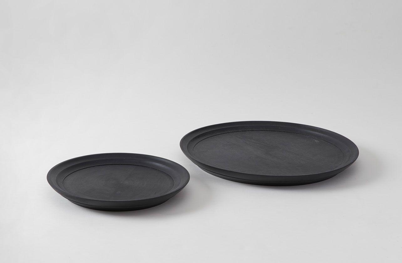 Ifuji Black Round Trays