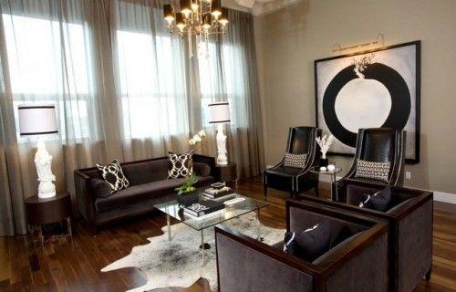 Contemporary Living Room By Atmosphere Interior Design Inc Hall