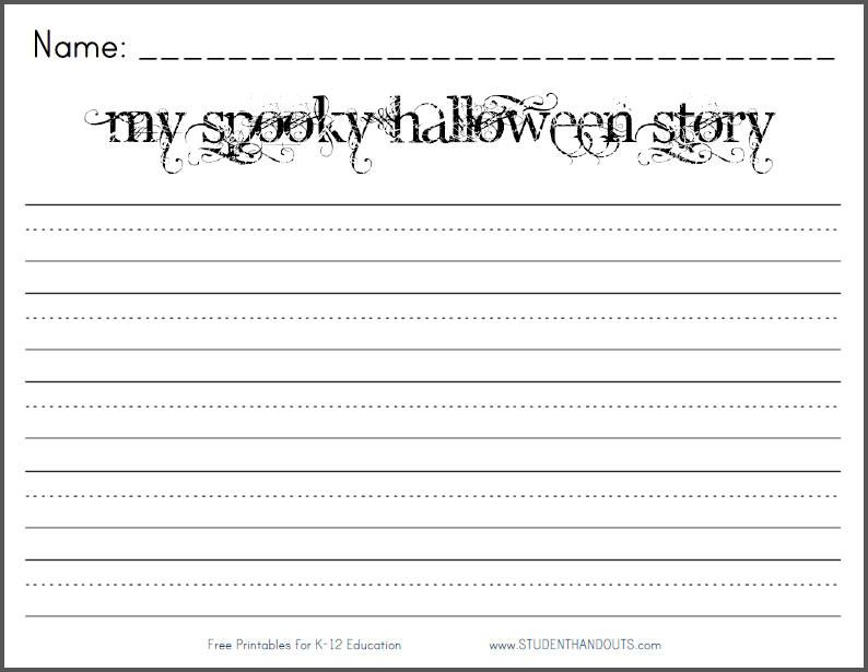 Marvelous My Spooky Halloween Story Writing Prompt