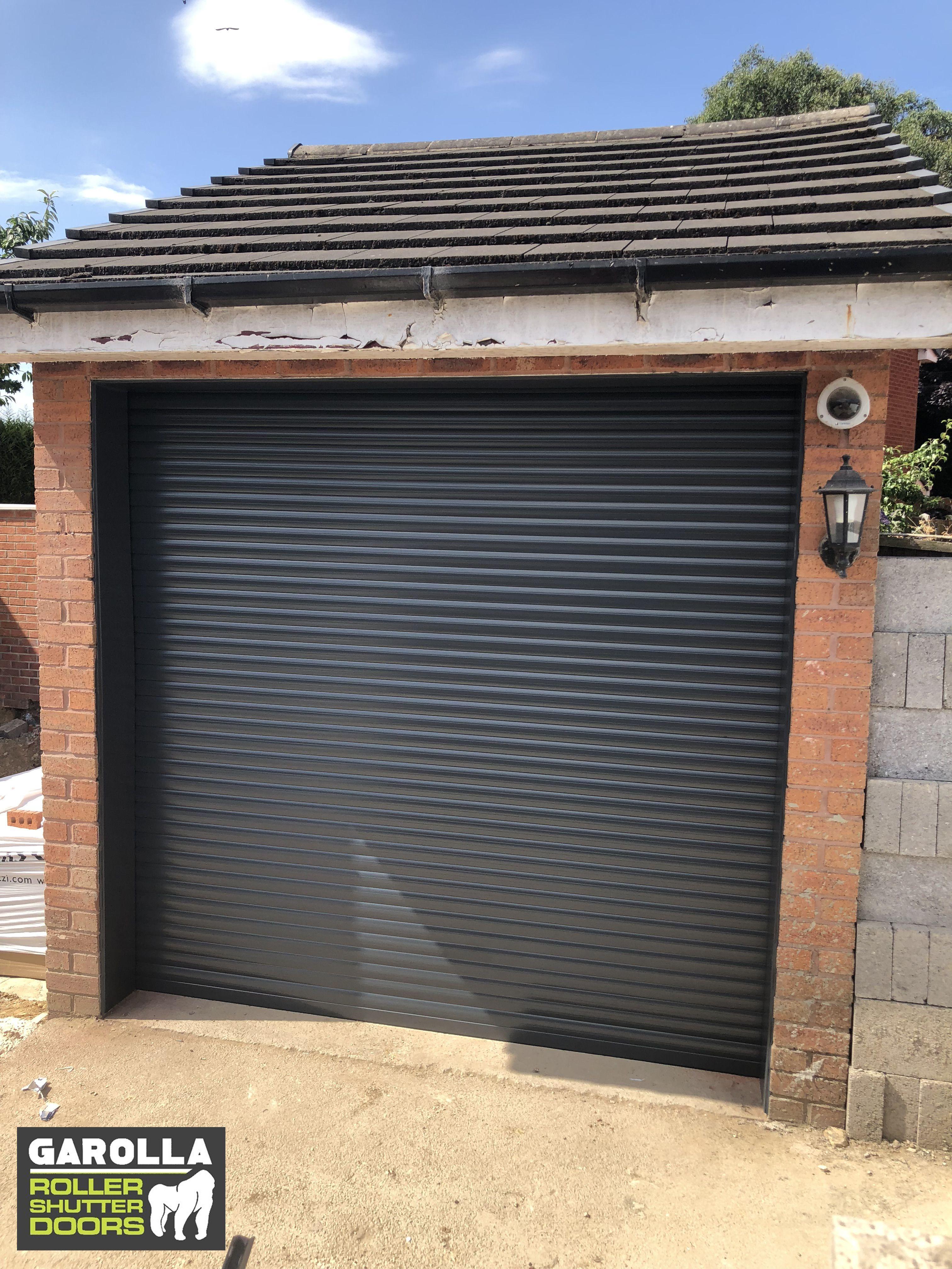 Garage Roller Door In Grey Roller Doors Garage Door Styles Garage Door Installation