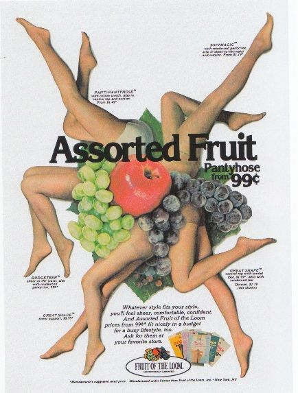 Fruit of the loom pantyhose commercials