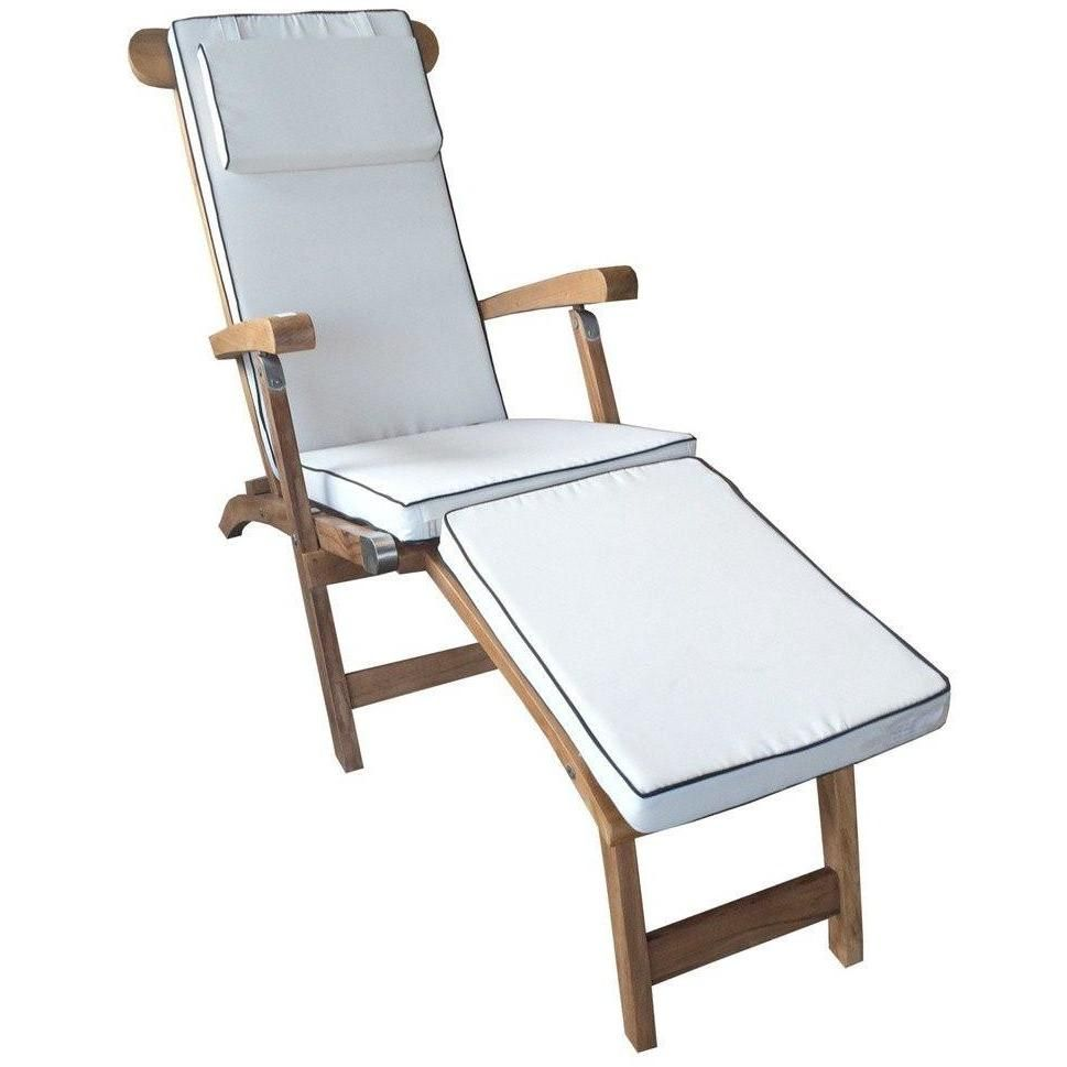 Cushion For Steamer Chair By Chic Teak Only 148 96 Outdoor Chaise Lounge Cushions Chaise Lounge Teak Chaise Lounge