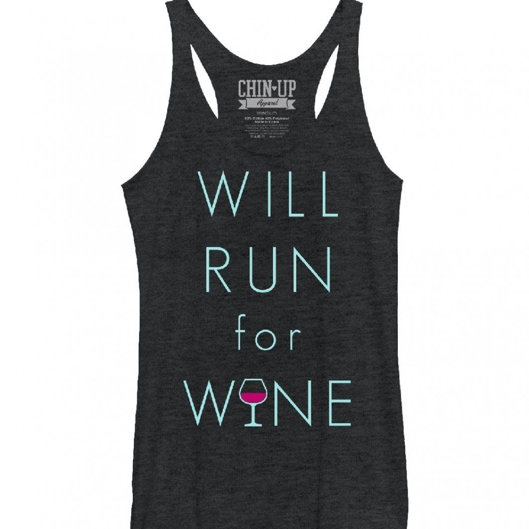 1c9019b85f85 CHIN UP Women s - Will Run For Wine Glass Racerback Tank