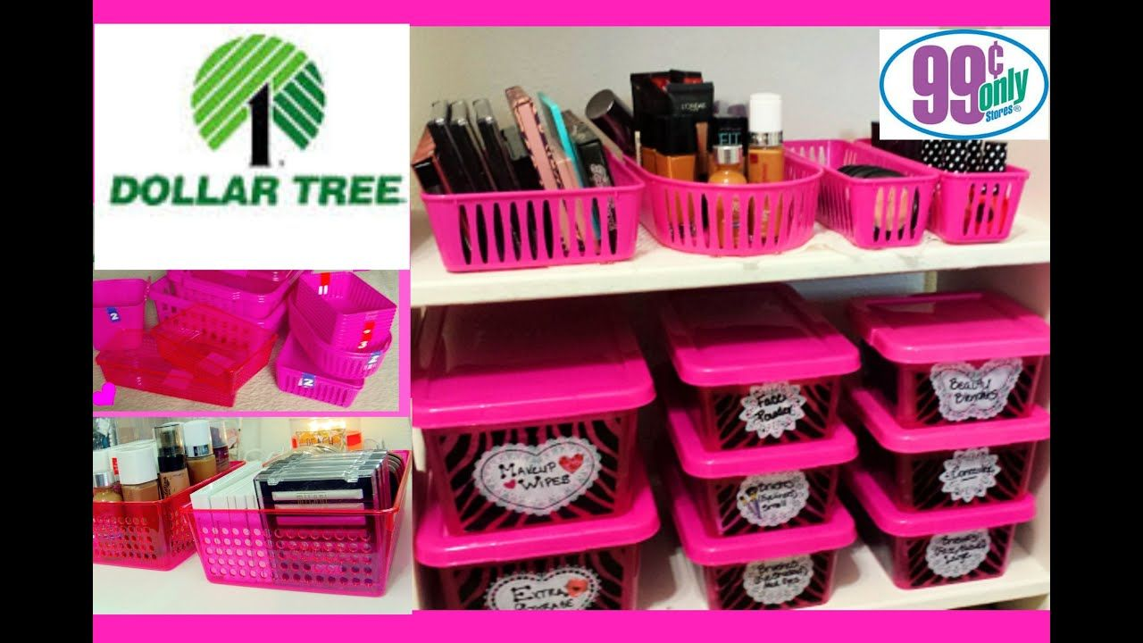 1 Makeup Organization & Storage Ideas Dollar Tree & 99