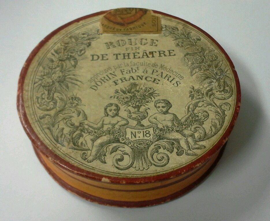 Vintage Collectible French 1800's Rouge Fin De Theatre No