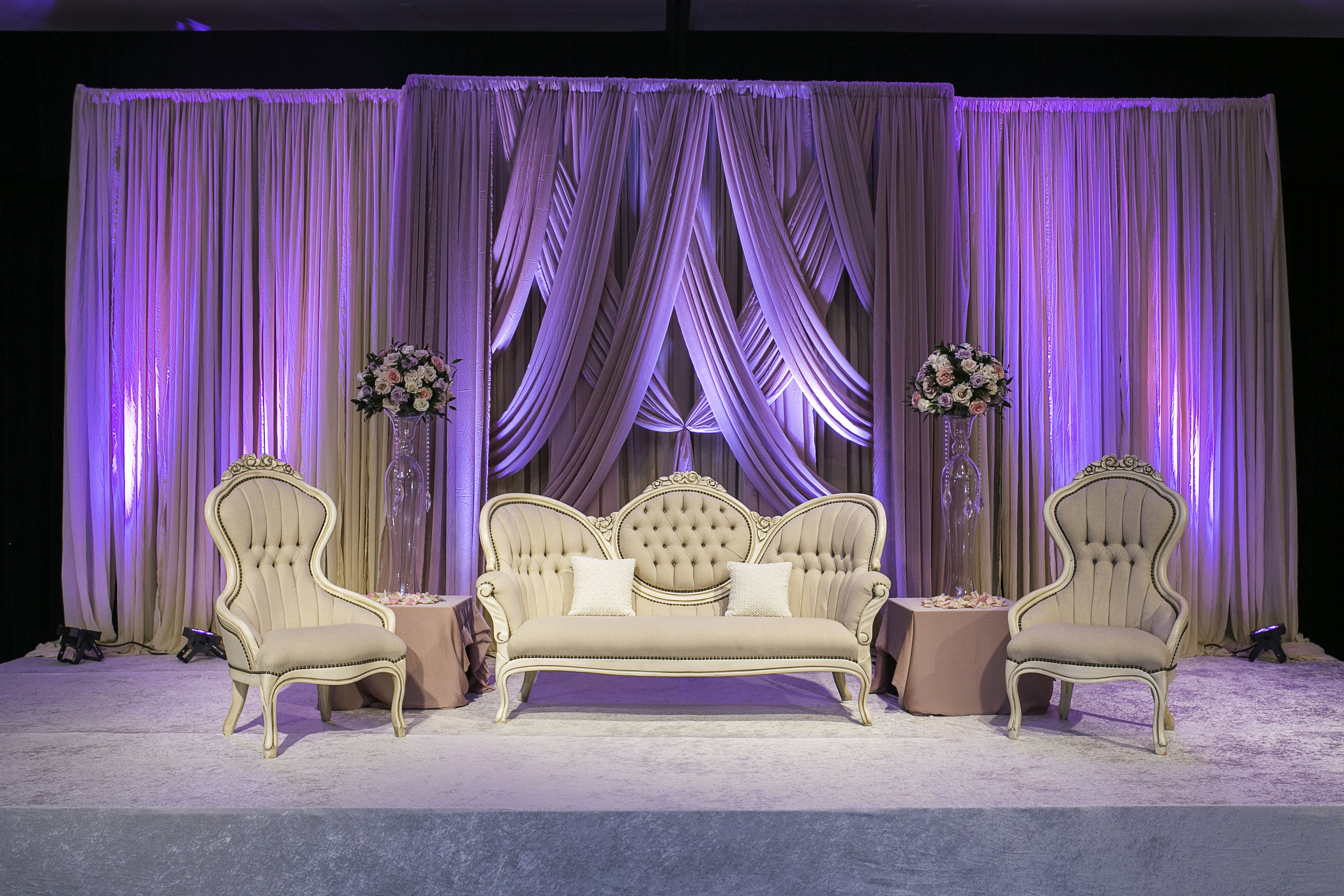 Wedding decoration stage backdrop  Chic and Romantic Reception Stage sarahkhaneventstyling skes