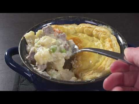 Quick and Easy Steak & Potato Pot Pie http://icookto.com ...