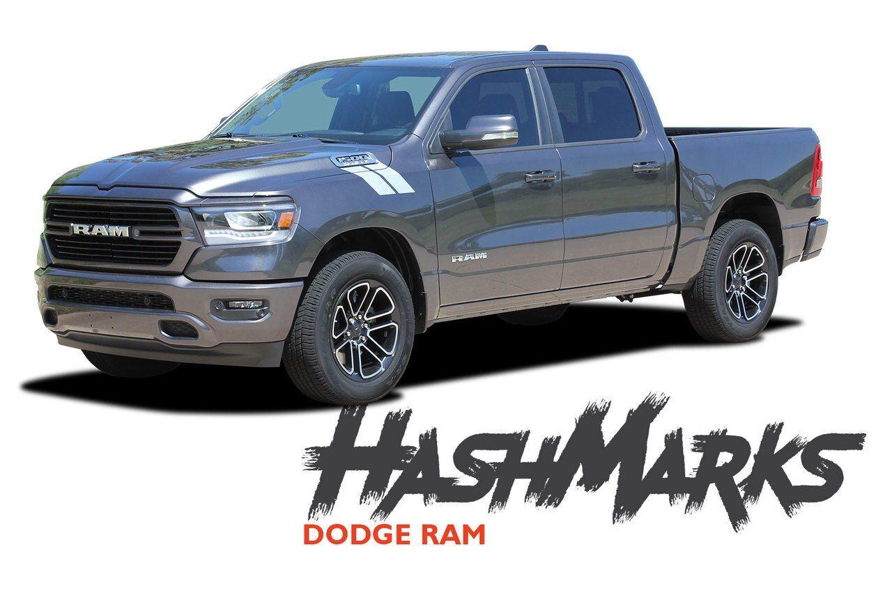 Double Bar Fender Hash Stripe Stripes decals fit 2019-2020 Dodge Ram 1500