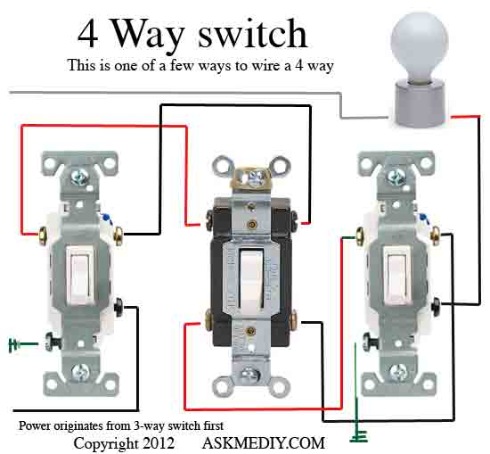 4-way Switch Wiring Diagram Multiple Lights