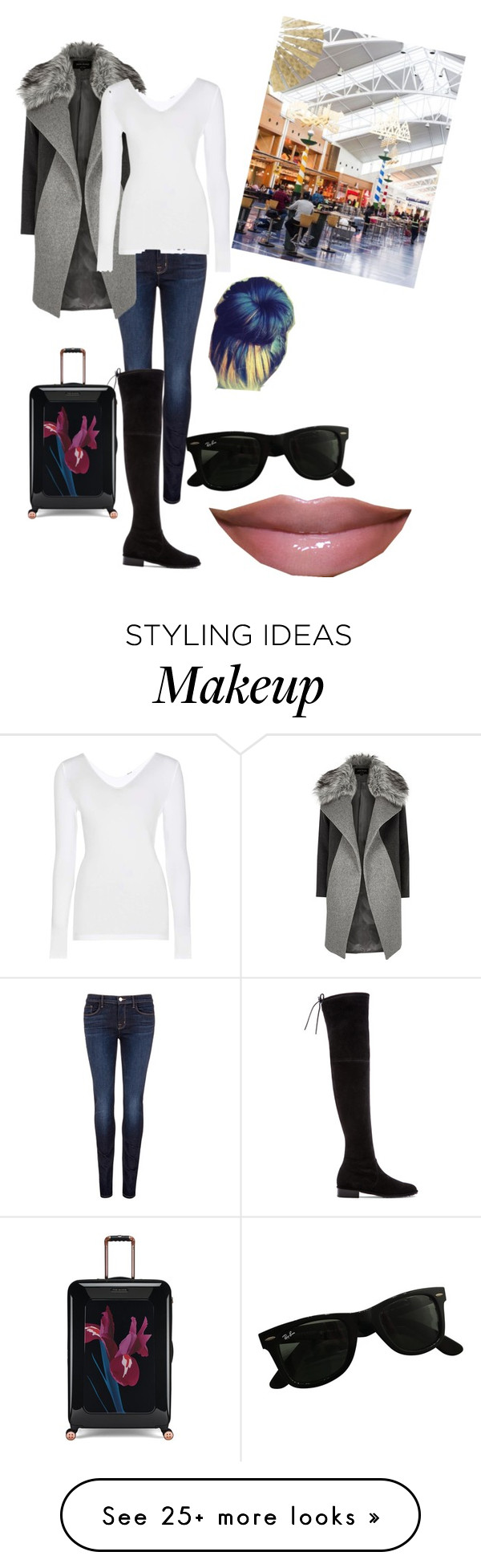 """""""Untitled #307"""" by mzsundae on Polyvore featuring J Brand, Stuart Weitzman, River Island, Wolford, Ray-Ban and Ted Baker"""