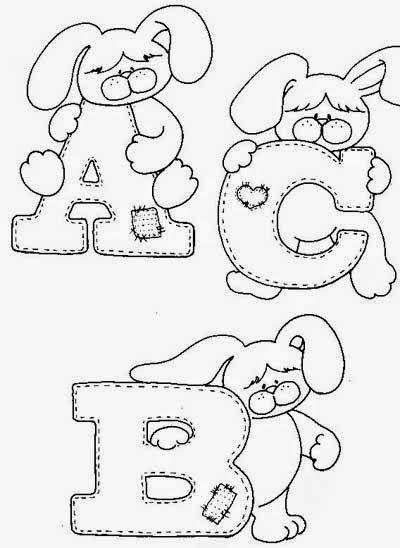 Alfabeto Do Coelhinho Com Imagens Mural De Pascoa Alfabeto
