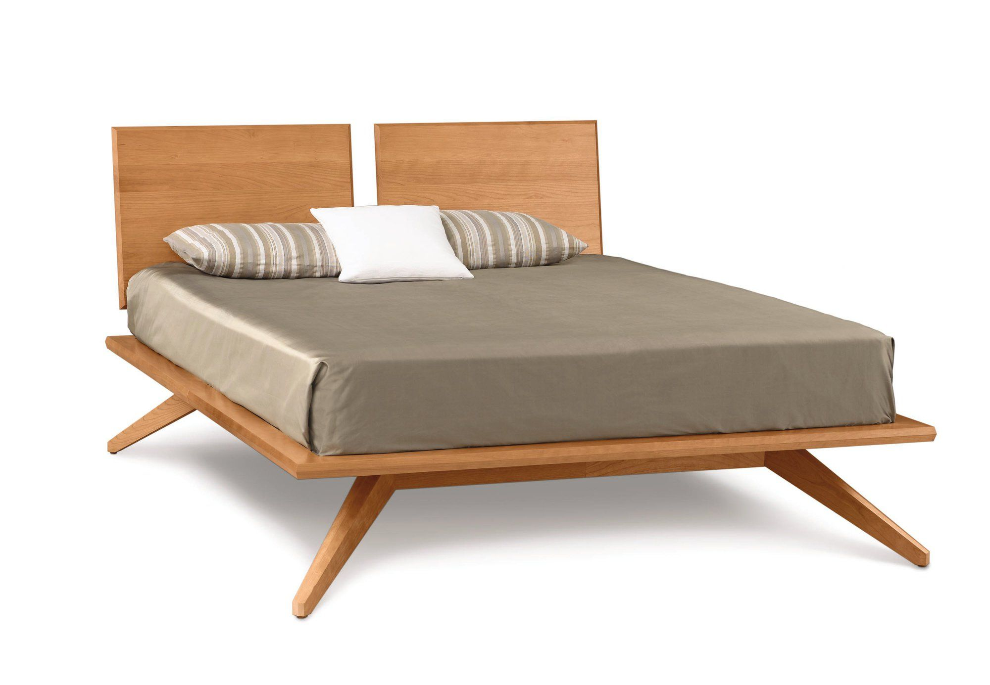 Copeland Furniture Astrid Bed with 2 Adjustable Headboard Panels, slate maple $2772