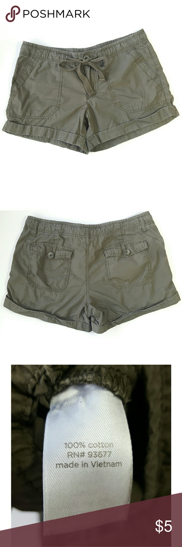 SALE Jcp Olive Green Drawstring Shorts Jcp, olive green color, drawstring, no holes or stains, good condition, size 10. jcpenney Shorts