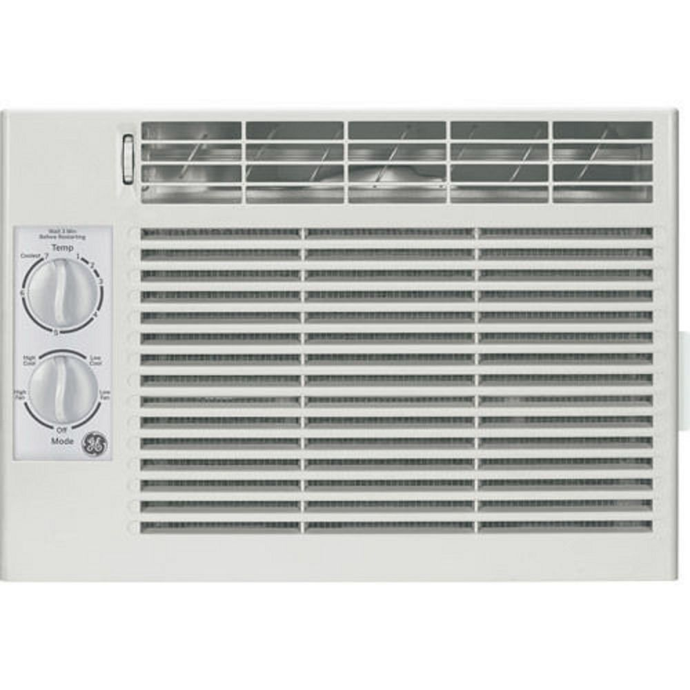 General Electric 5 050 Btu Mechanical Control Window Air Conditioner White Generalelectri Compact Air Conditioner Window Air Conditioner Room Air Conditioner