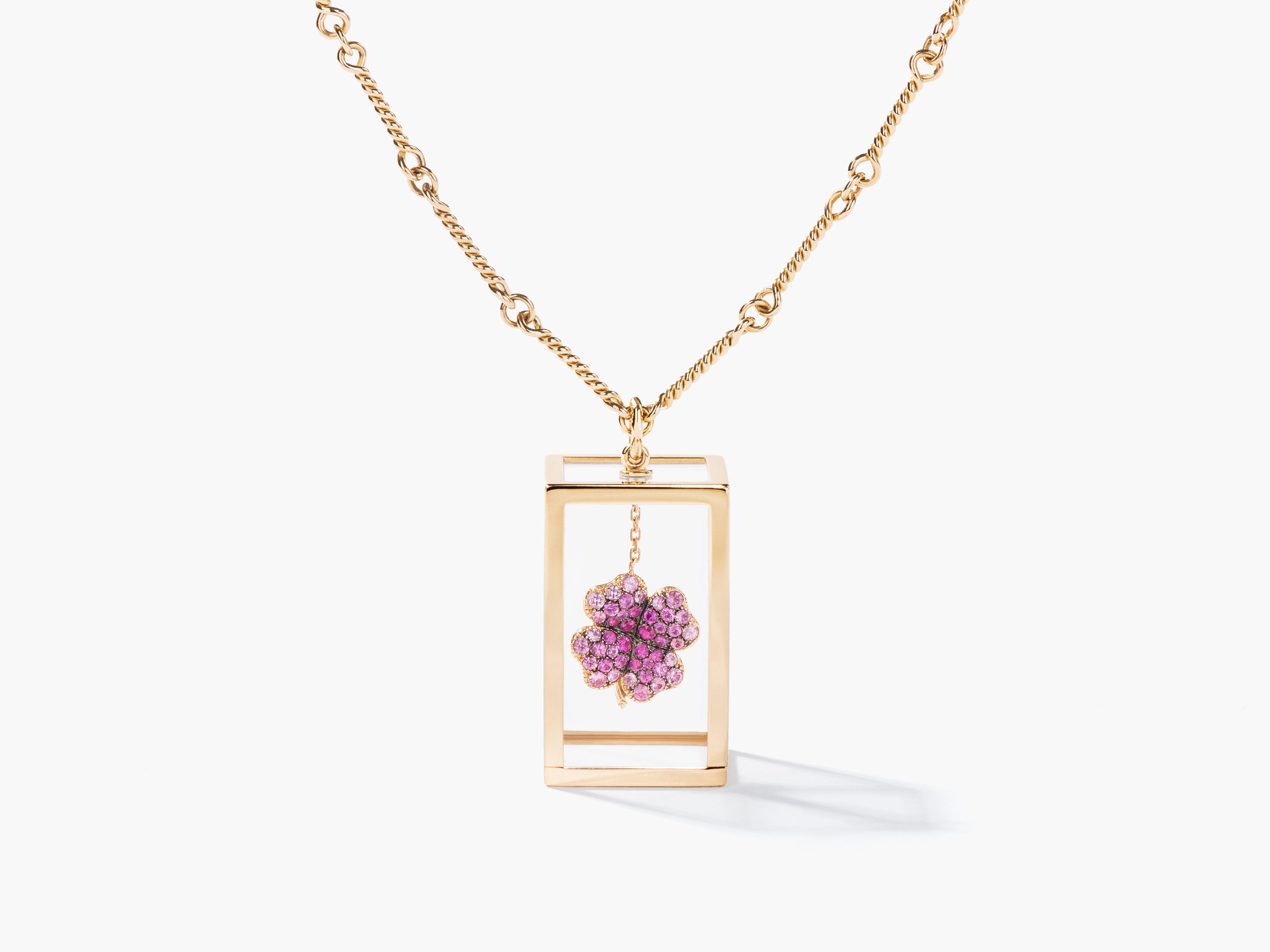 Amazone Box With Pink Sapphires Aur 3LCNof1Dr