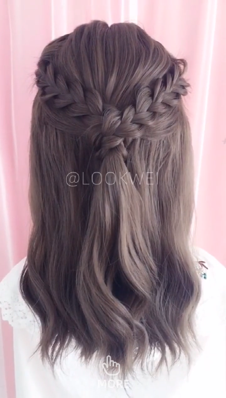 5 minutes braided hairstyle, very simple